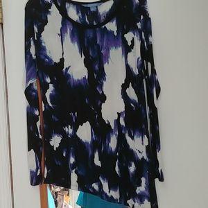 Slanted hemline great colors tunic